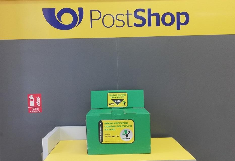 Nádoby na sběr použitých baterií jsou už i na poštách